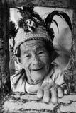 老菲律宾女人妇女 免版税图库摄影
