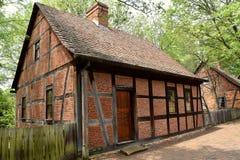 老萨利姆, NC :1767 Moravian第三议院 免版税库存照片