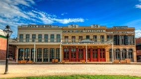 老萨加门多历史建筑 免版税库存照片