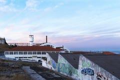 老葡萄牙工厂 免版税库存照片