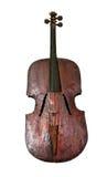 老葡萄酒低音提琴 库存照片