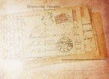 老葡萄酒信件 库存图片