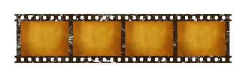 老葡萄酒减速火箭的35 mm影片小条框架 免版税库存图片