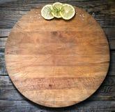老葡萄酒切板摘要食物背景 免版税库存图片