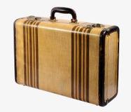 老葡萄酒刚性框架手提箱 免版税图库摄影