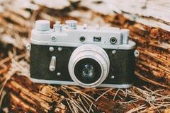 老葡萄酒小型格式测距仪照相机, 1950 20世纪60年代 免版税库存图片
