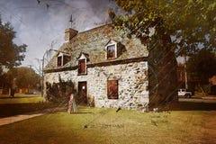 老葡萄酒房子 库存图片