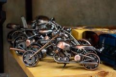 老葡萄酒手工制造玩具 库存图片