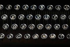老葡萄酒打字机钥匙 免版税库存照片