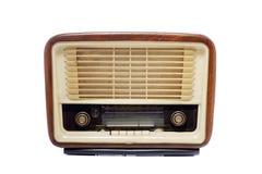 老葡萄酒收音机 免版税库存照片