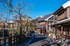 老葡萄酒日本房子在Sawara, Katori,千叶 库存照片