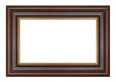 老葡萄酒木棕色框架 库存照片