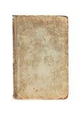 老葡萄酒构造了书盖子在白色的 库存图片