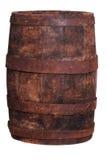 老葡萄酒桶由木头制成 免版税图库摄影