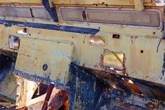 老葡萄酒汽车难看的东西内部 库存图片