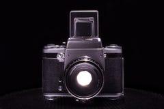 老葡萄酒照相机-黑色 图库摄影