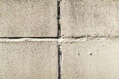 老葡萄酒白色砖墙纹理背景 免版税图库摄影