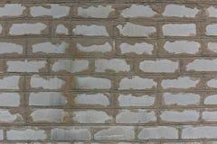 老葡萄酒白色砖墙背景特写镜头纹理  免版税库存照片
