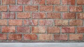 老葡萄酒砖墙背景 库存图片