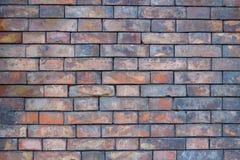 老葡萄酒砖墙背景 免版税库存图片