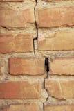 老葡萄酒砖墙背景 免版税图库摄影