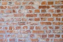 老葡萄酒砖墙背景 免版税库存照片