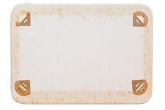 老葡萄酒空的照片角落 免版税库存图片
