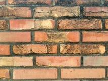 老葡萄酒红砖墙壁背景  免版税库存图片