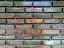老葡萄酒红砖墙壁背景  免版税库存照片