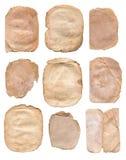 老葡萄酒纸在白色隔绝的背景被设置的或收藏 免版税图库摄影