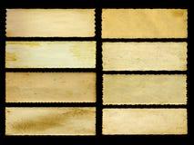 老葡萄酒纸横幅在黑色设置了被隔绝 库存图片