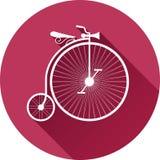 老葡萄酒自行车的减速火箭式例证 免版税图库摄影