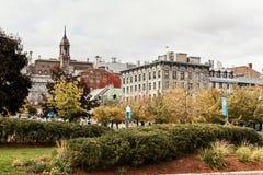 老蒙特利尔,魁北克,加拿大风景视图  库存图片