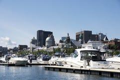 老蒙特利尔-魁北克的港 免版税库存图片