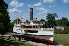 老蒸汽小船博物馆 图库摄影