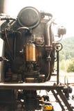 老蒸汽引擎机车在比利时 免版税图库摄影