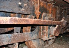 老蒸汽引擎 库存图片