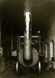 老蒸汽引擎 库存照片