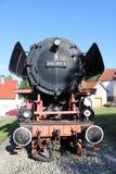 老蒸汽机车在帕德博恩附近altenbeken 库存图片
