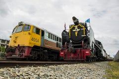 老蒸汽机车太平洋 图库摄影