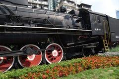 老蒸汽机车,乡愁,有很多年龄 免版税库存图片