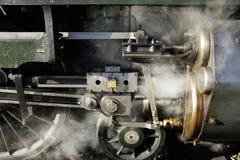 老蒸汽机车,轮子 免版税库存图片