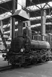 老蒸汽机车 免版税图库摄影