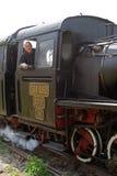 老蒸汽机车 免版税库存照片