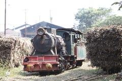 老蒸汽机车 免版税库存图片