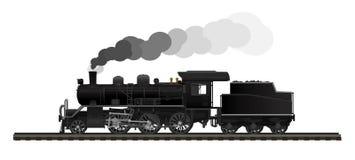 老蒸汽机车 皇族释放例证