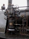 老蒸汽火车的锅炉管主要结构 免版税库存照片