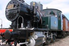 老蒸汽火车 库存图片