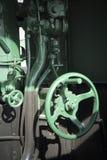 老蒸汽训练零件。 库存图片