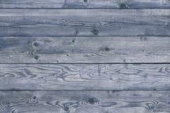 老蓝色变老了谷仓墙壁木背景平直的平的视图 库存图片